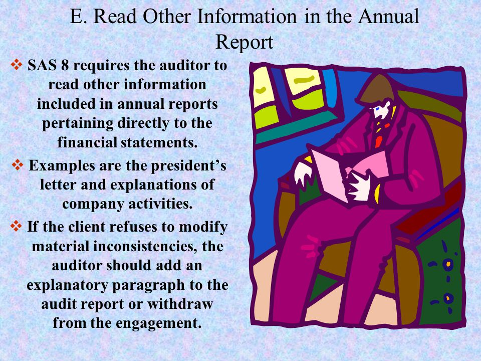 E. Read Other Information in the Annual Report