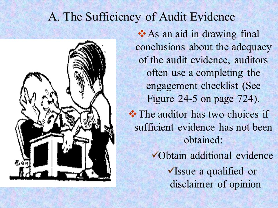 A. The Sufficiency of Audit Evidence