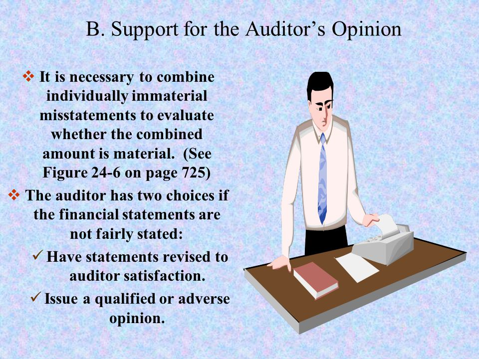 B. Support for the Auditor's Opinion