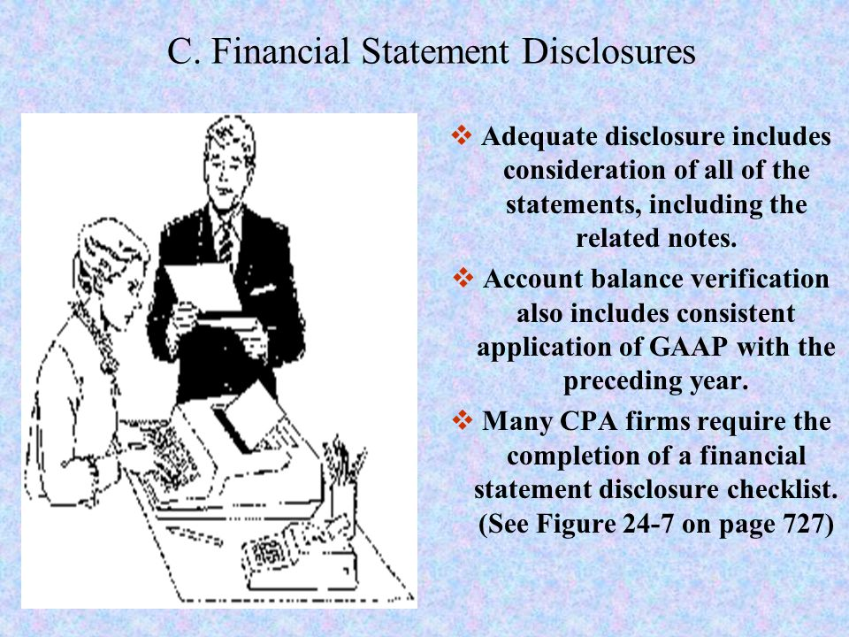 C. Financial Statement Disclosures