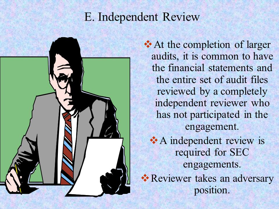 E. Independent Review