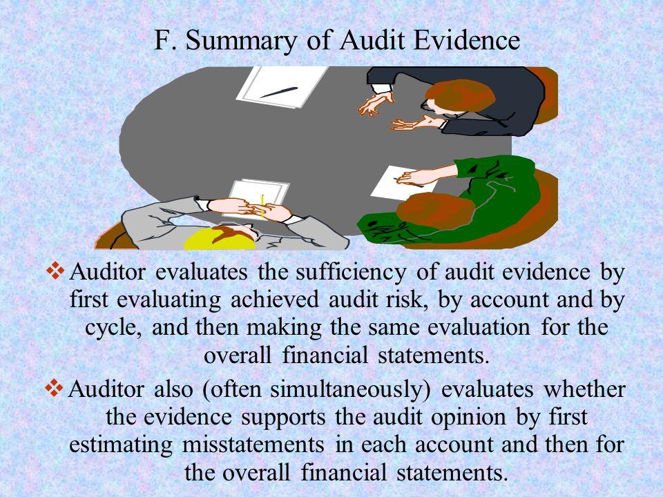 F. Summary of Audit Evidence