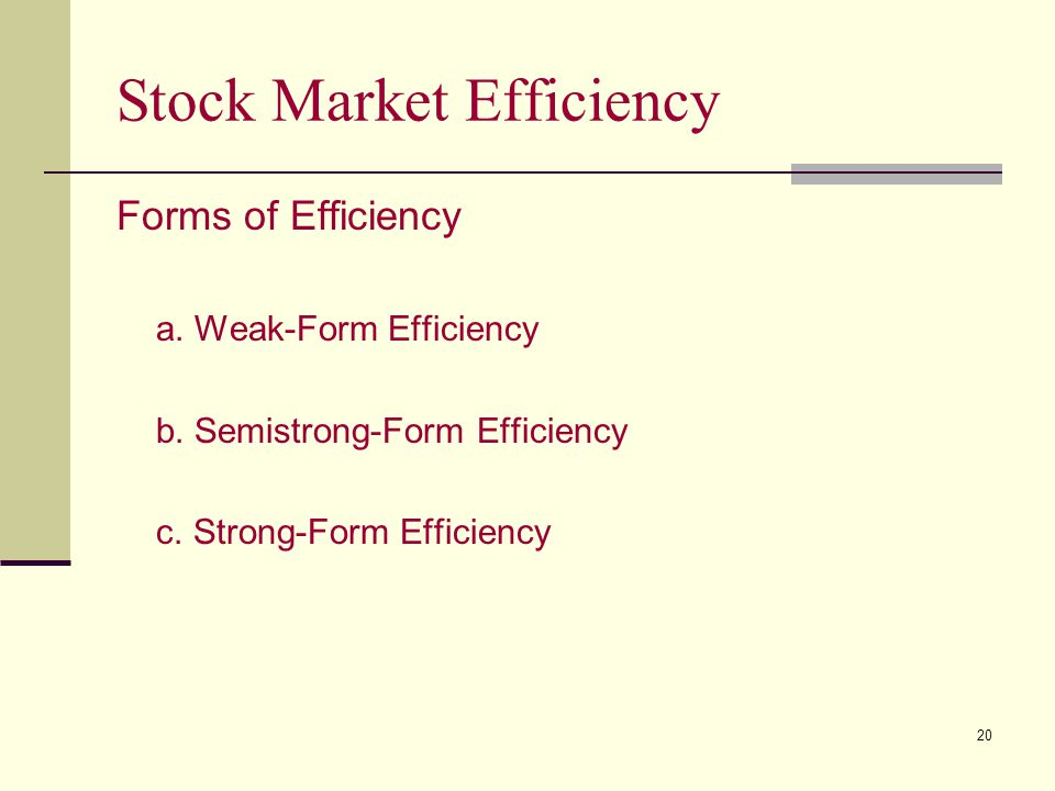 Stock Market Efficiency
