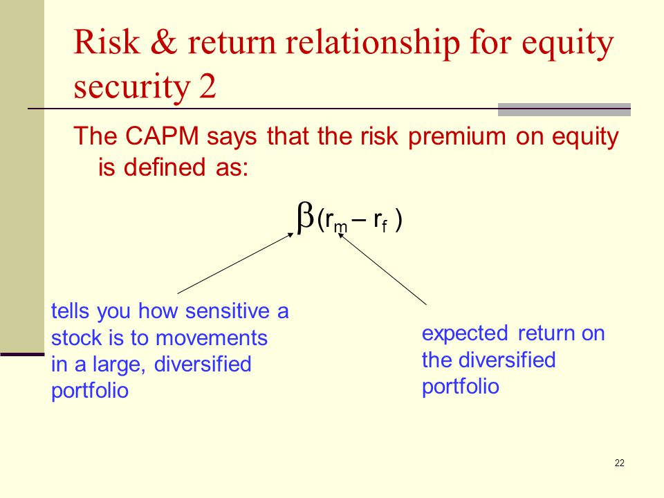 Risk & return relationship for equity security 2