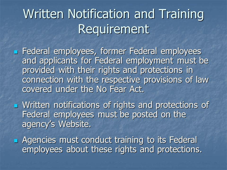 Written Notification and Training Requirement