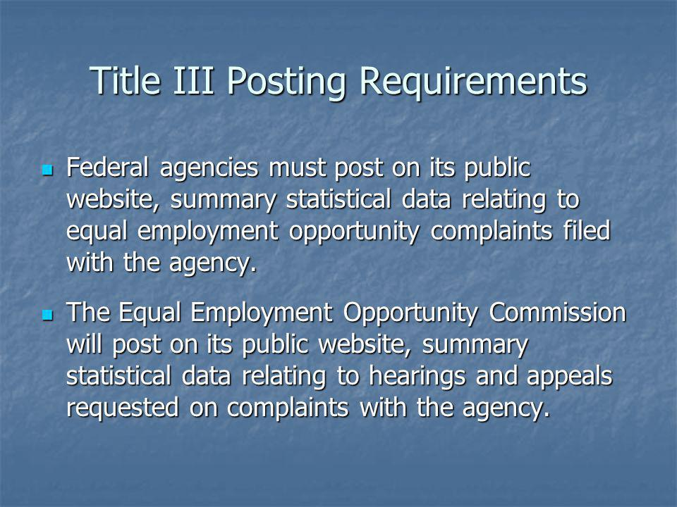Title III Posting Requirements