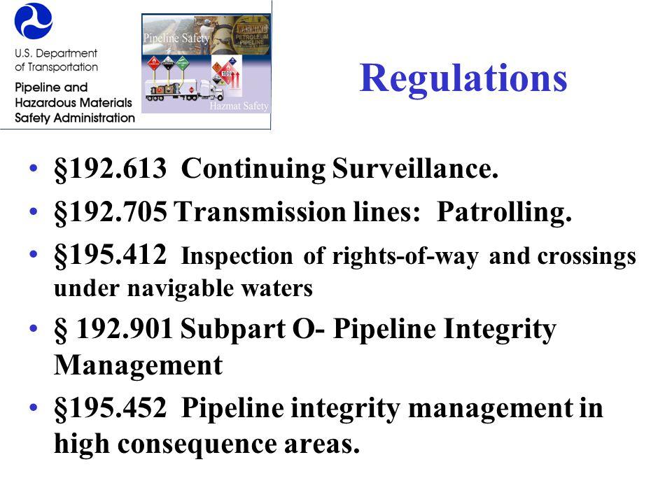 Regulations §192.613 Continuing Surveillance.