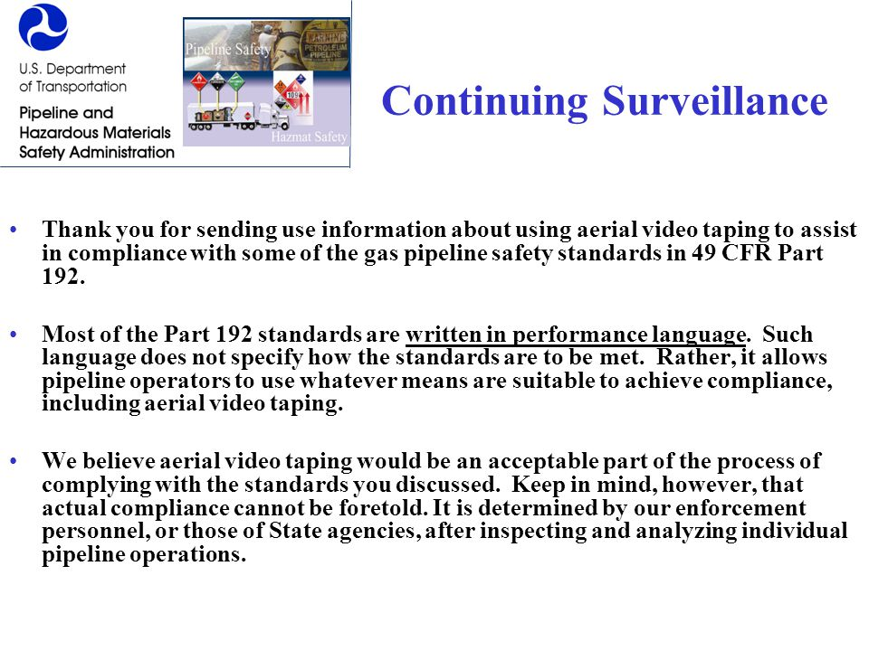Continuing Surveillance