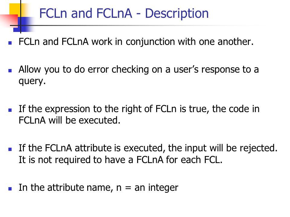 FCLn and FCLnA - Description