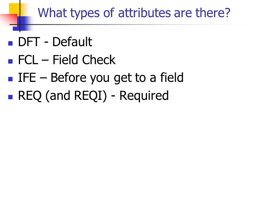 What types of attributes are there