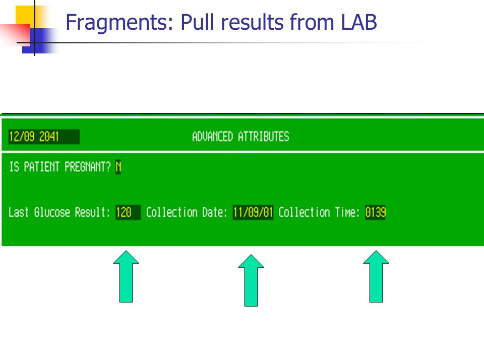 Fragments: Pull results from LAB