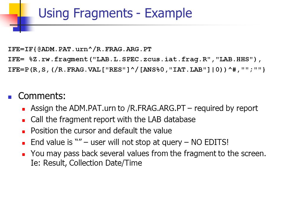 Using Fragments - Example
