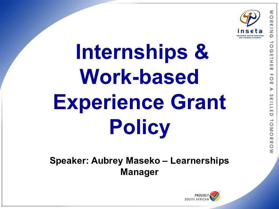 INSETA Internships Policy