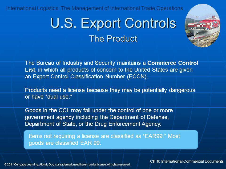 U.S. Export Controls The Product