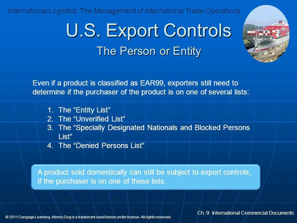 U.S. Export Controls The Person or Entity