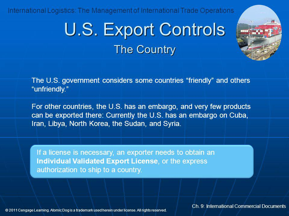 U.S. Export Controls The Country