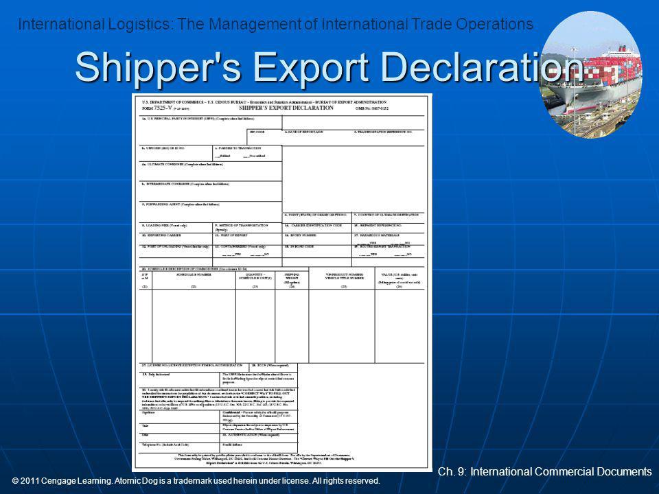 Shipper s Export Declaration
