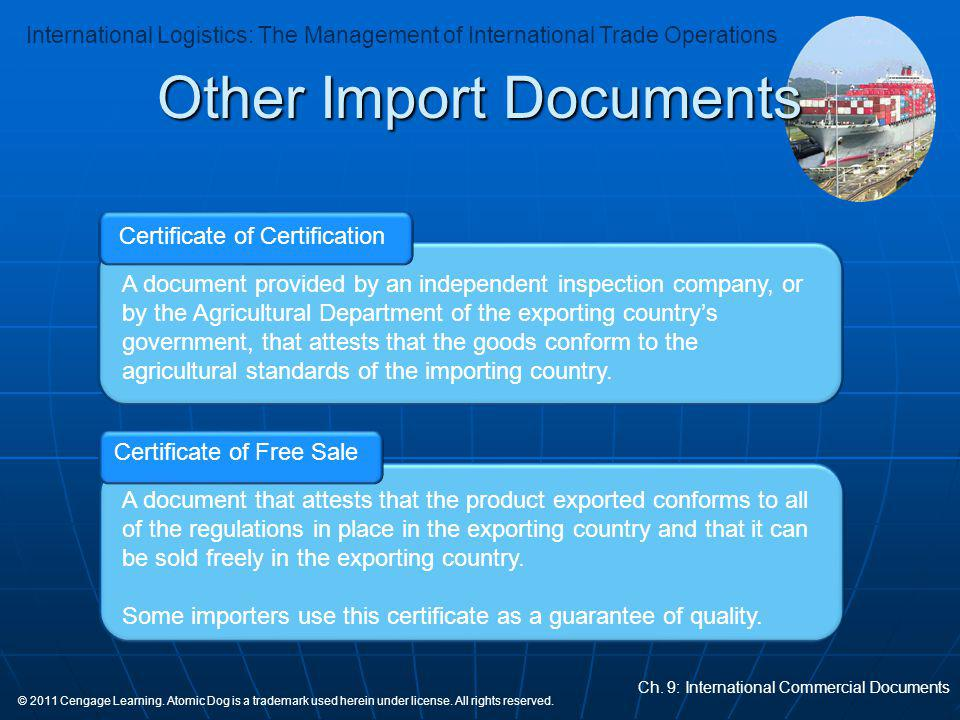 Other Import Documents