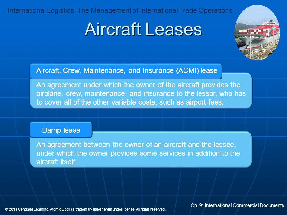 Aircraft, Crew, Maintenance, and Insurance (ACMI) lease