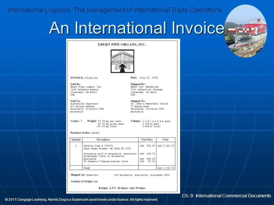 An International Invoice