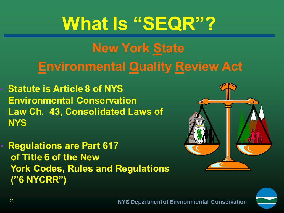 New York State Environmental Quality Review Act