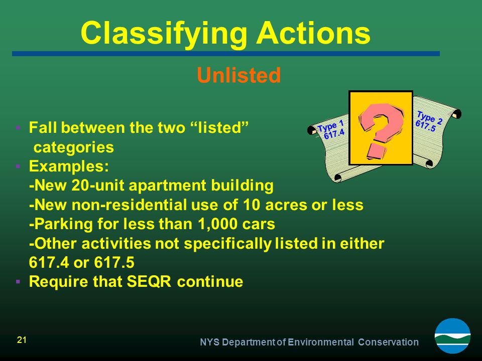Classifying Actions Unlisted Fall between the two listed categories