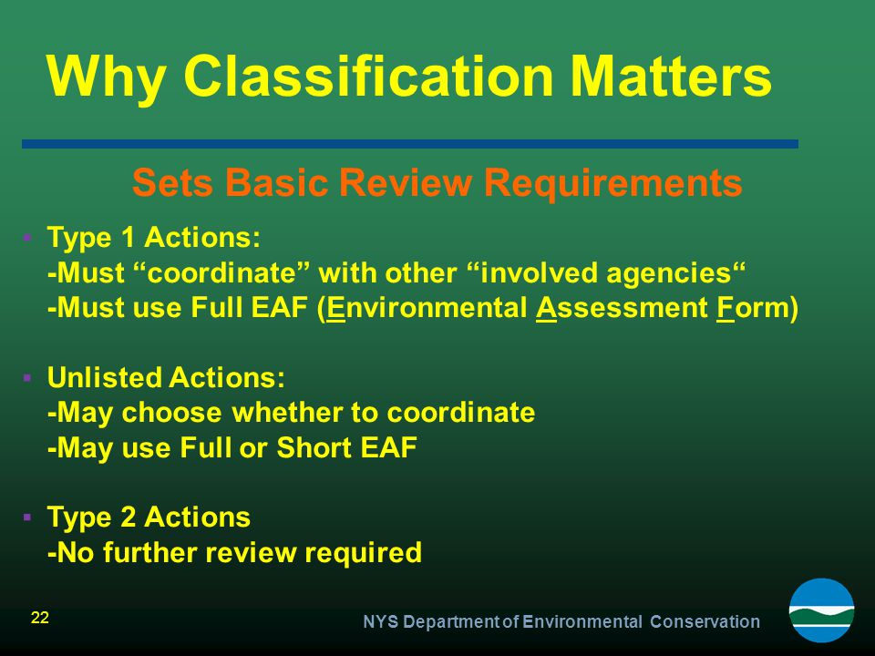 Why Classification Matters