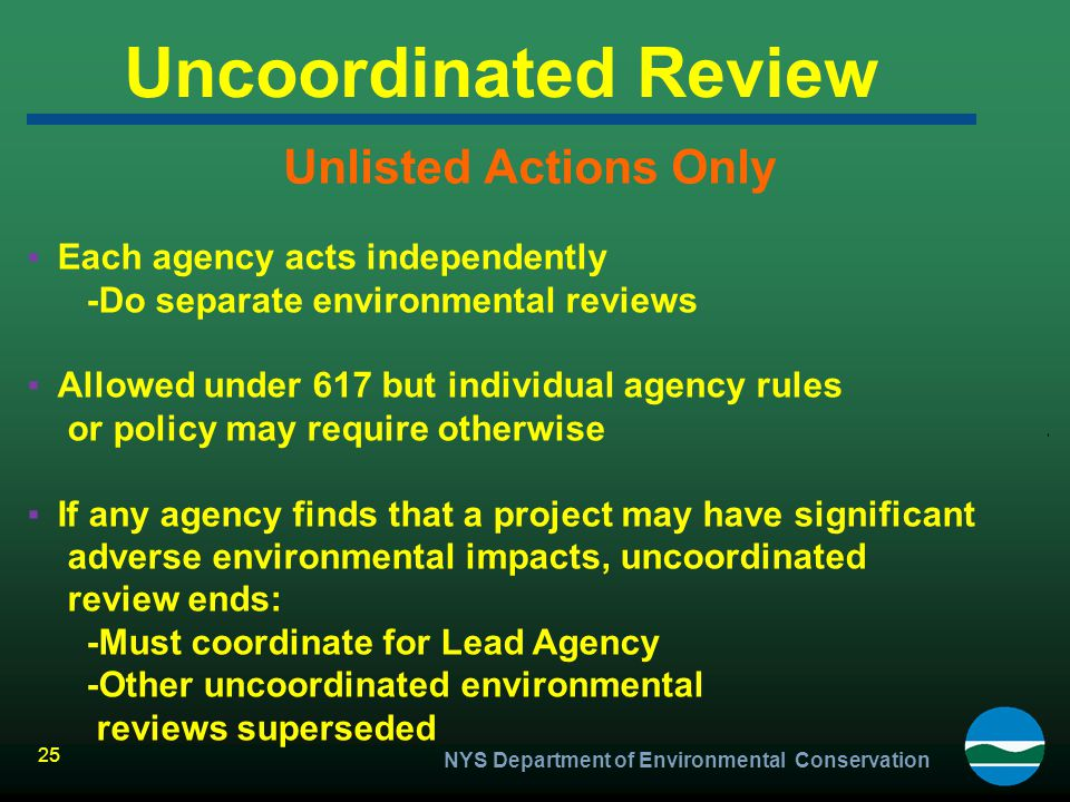 Uncoordinated Review Unlisted Actions Only