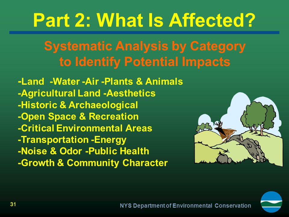 Systematic Analysis by Category to Identify Potential Impacts