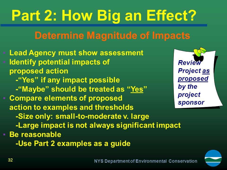 Determine Magnitude of Impacts