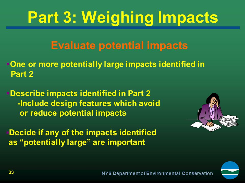 Part 3: Weighing Impacts