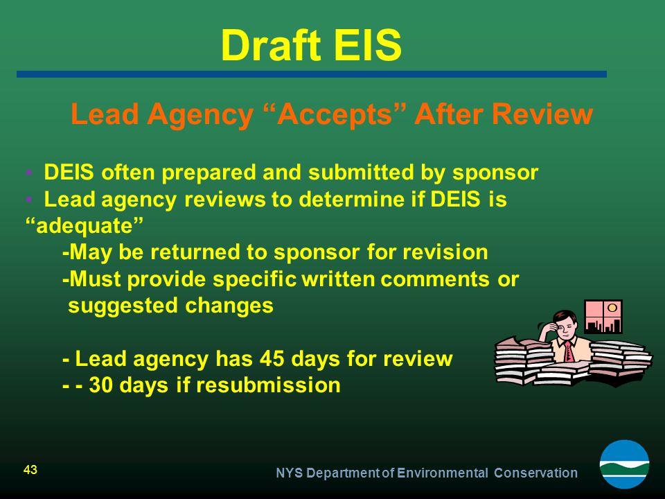 Lead Agency Accepts After Review