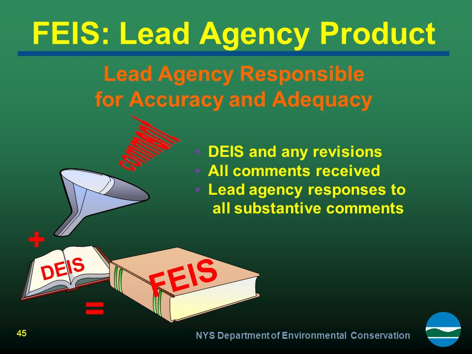 FEIS: Lead Agency Product