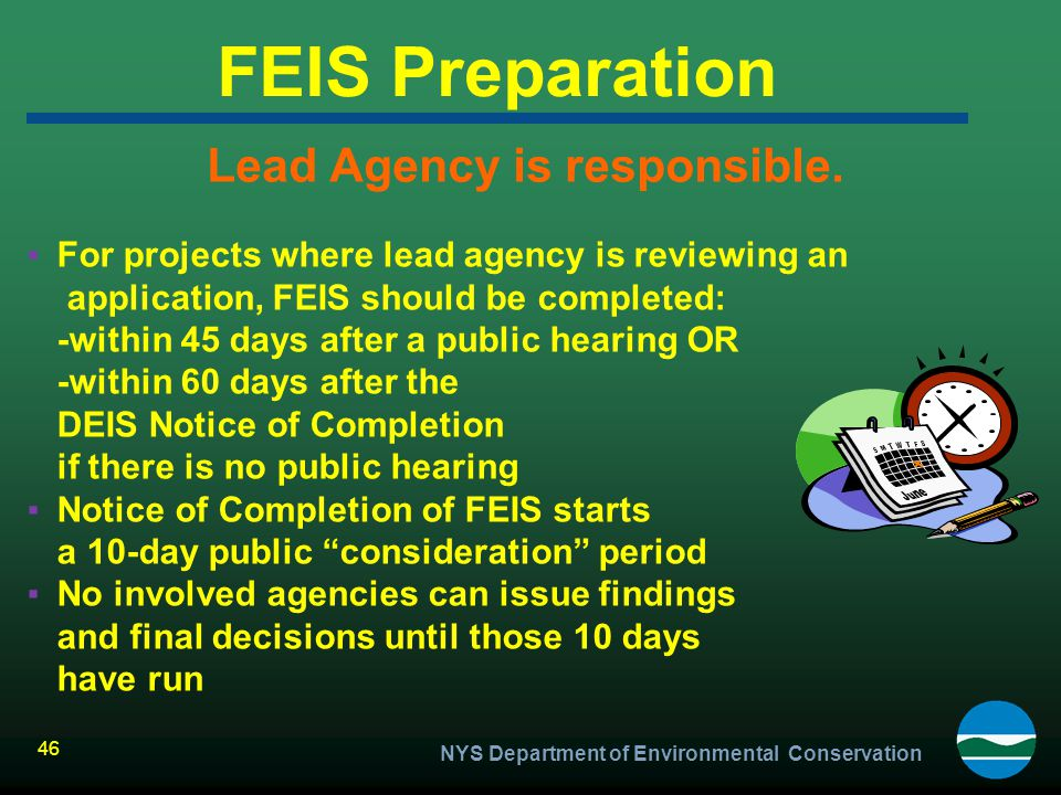 Lead Agency is responsible.