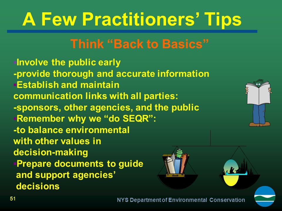A Few Practitioners' Tips