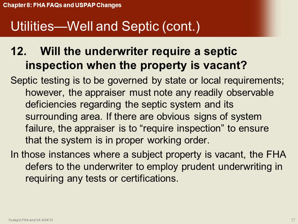 Utilities—Well and Septic (cont.)