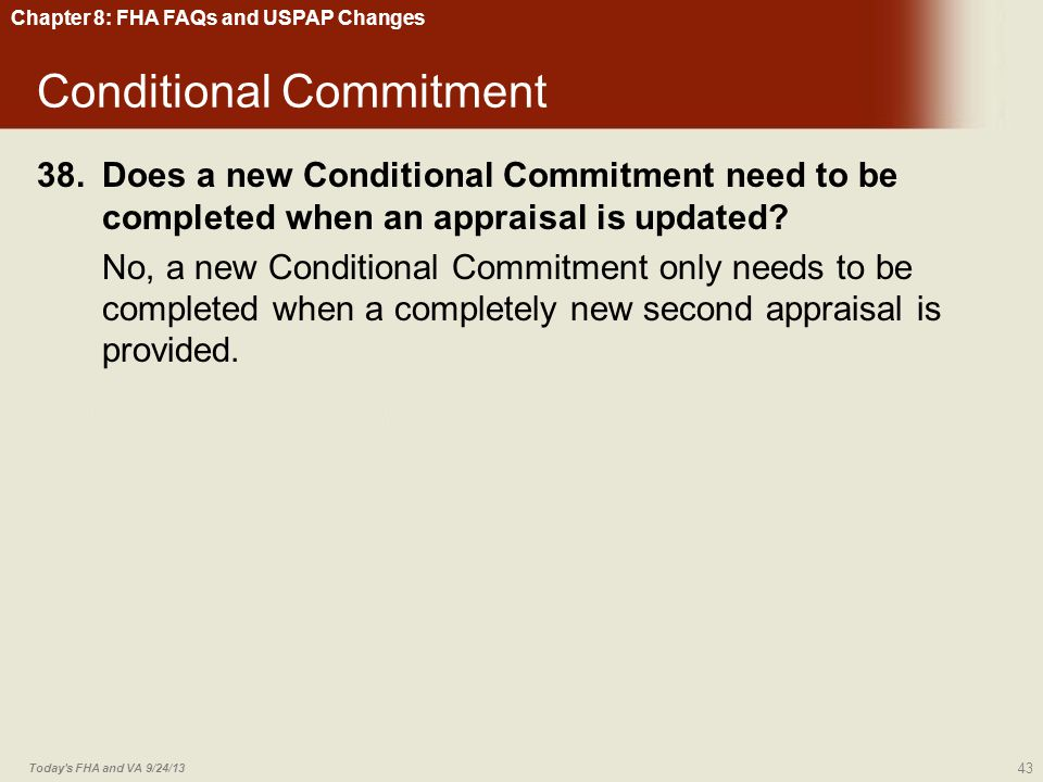 Conditional Commitment