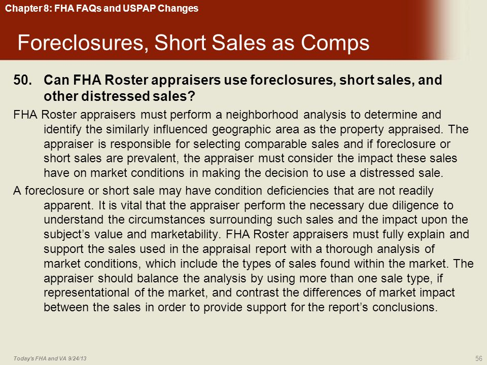 Foreclosures, Short Sales as Comps