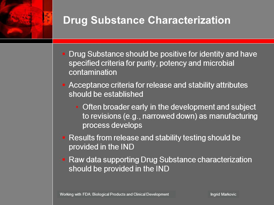 Drug Substance Characterization