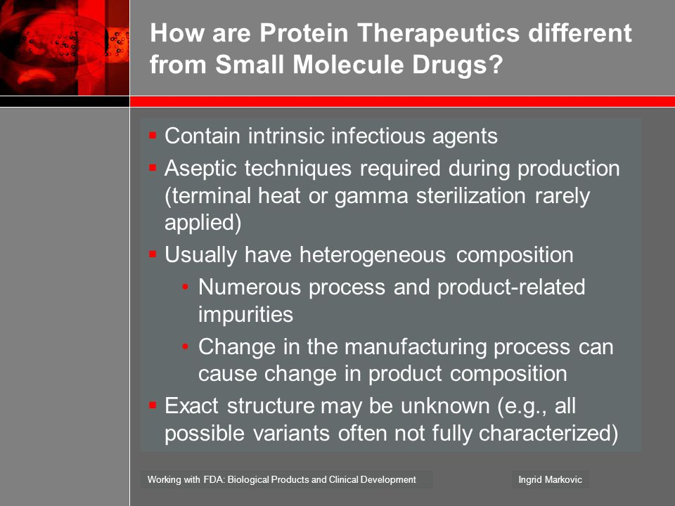 How are Protein Therapeutics different from Small Molecule Drugs