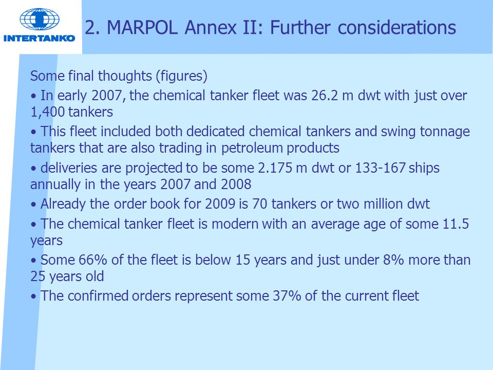 2. MARPOL Annex II: Further considerations