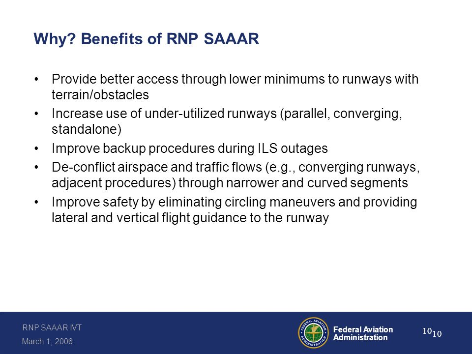 How FAA Guidance for RNP SAAAR Procedures