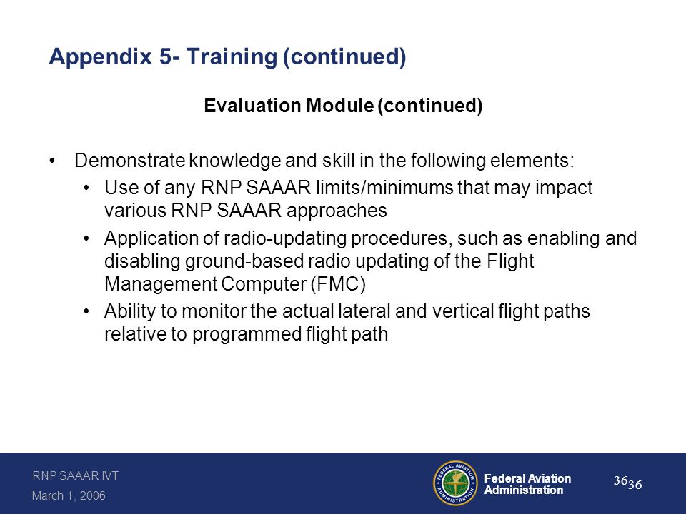 Appendix 5- Training (continued)