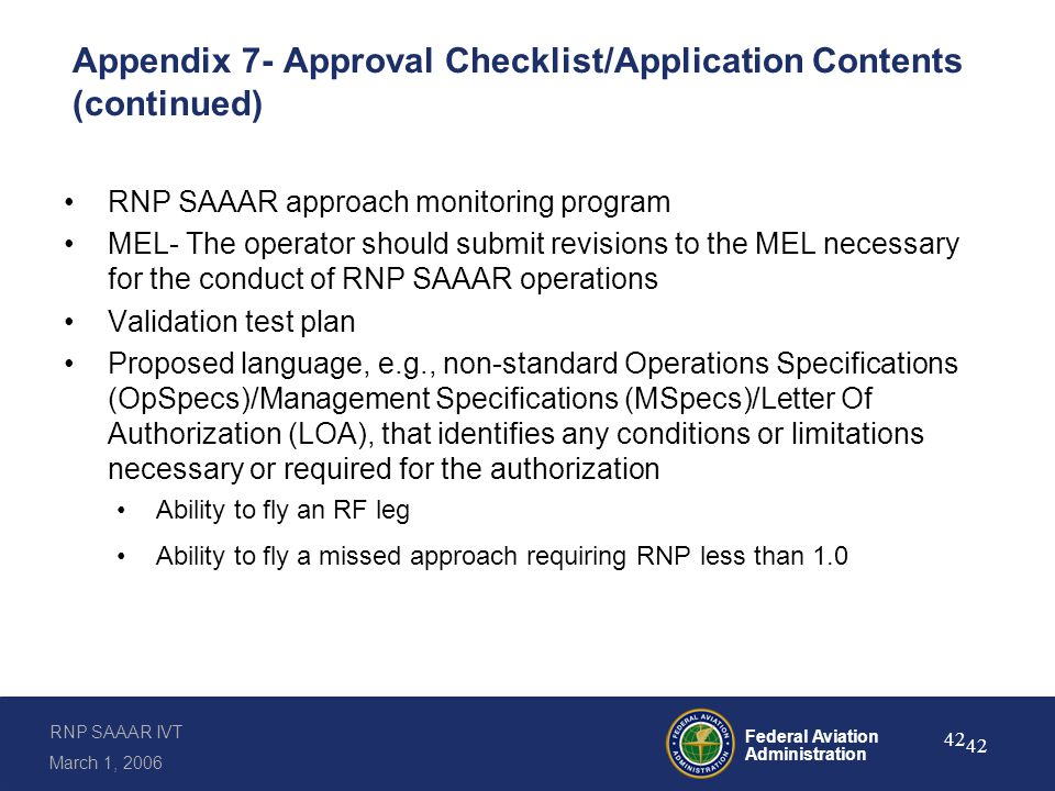 Inspector Guidance and Mechanisms for RNP SAAAR Authorizations
