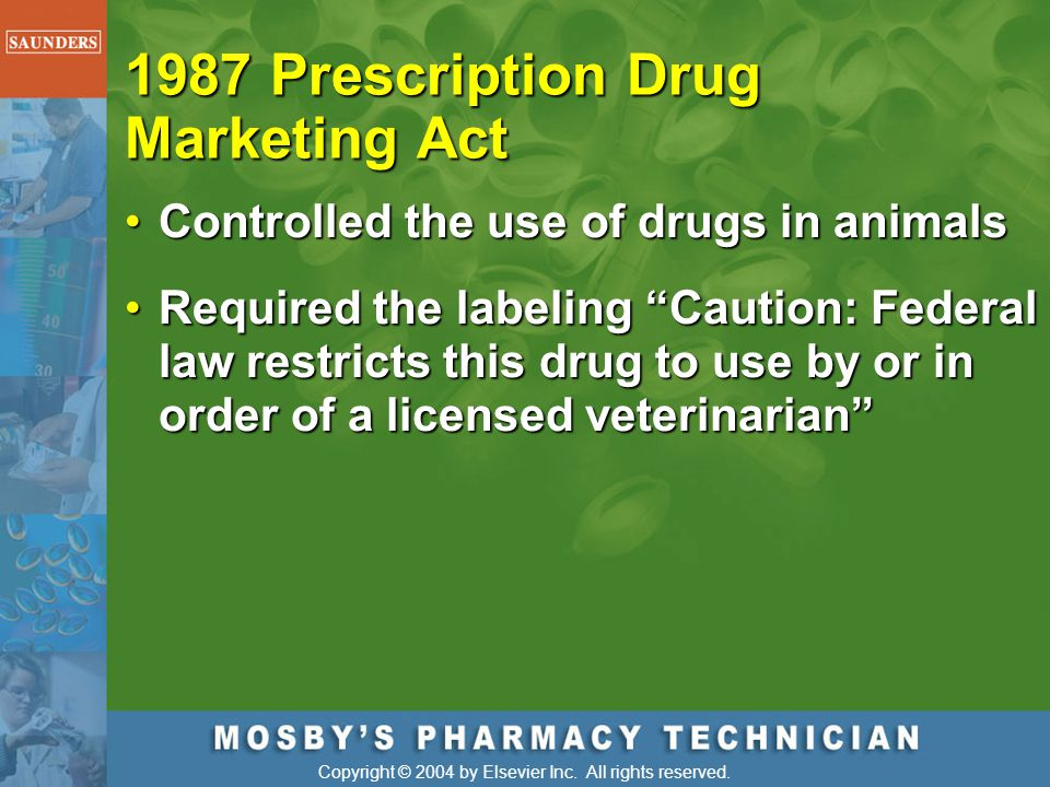 1987 Prescription Drug Marketing Act