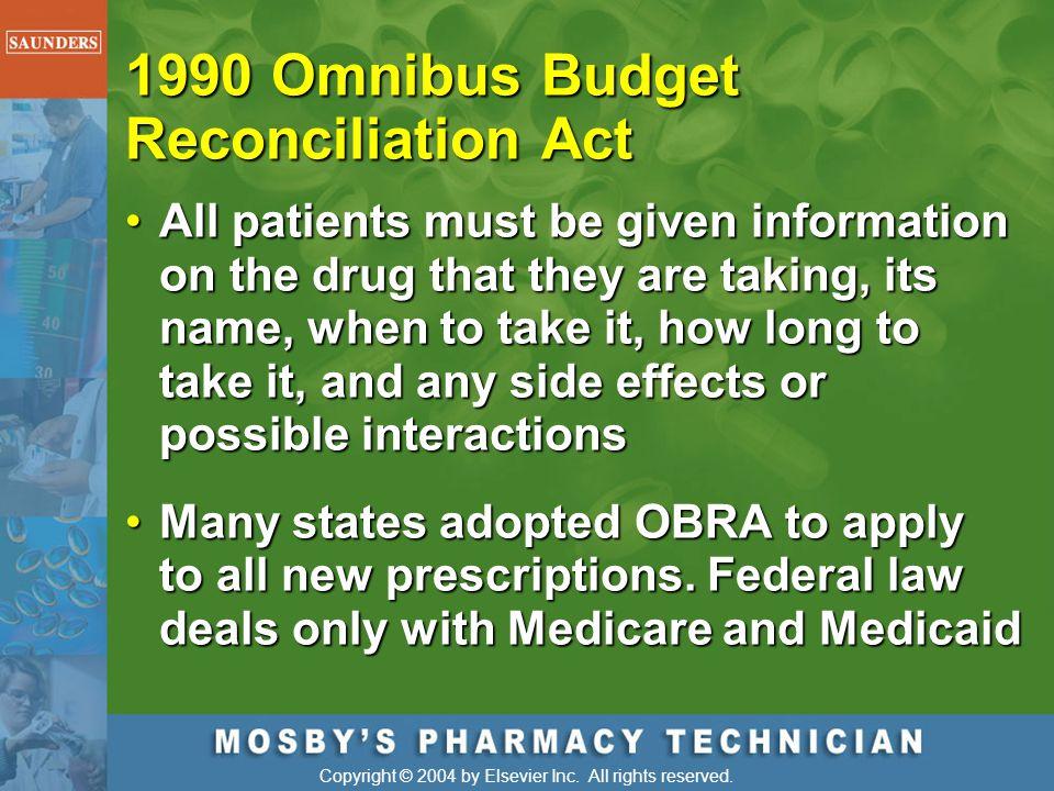 1990 Omnibus Budget Reconciliation Act