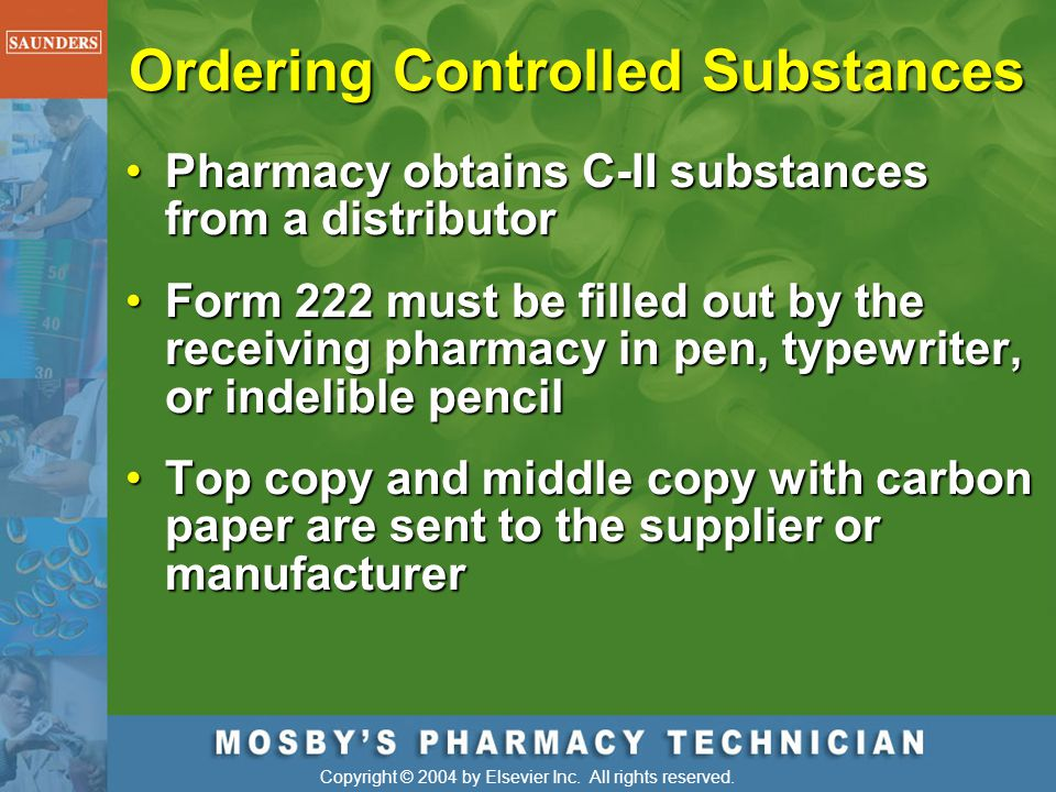 Ordering Controlled Substances