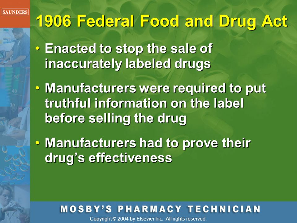 1906 Federal Food and Drug Act