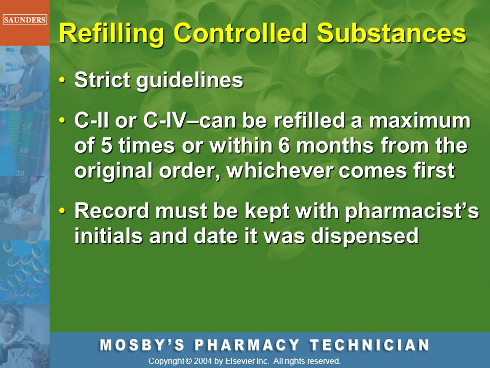 Refilling Controlled Substances