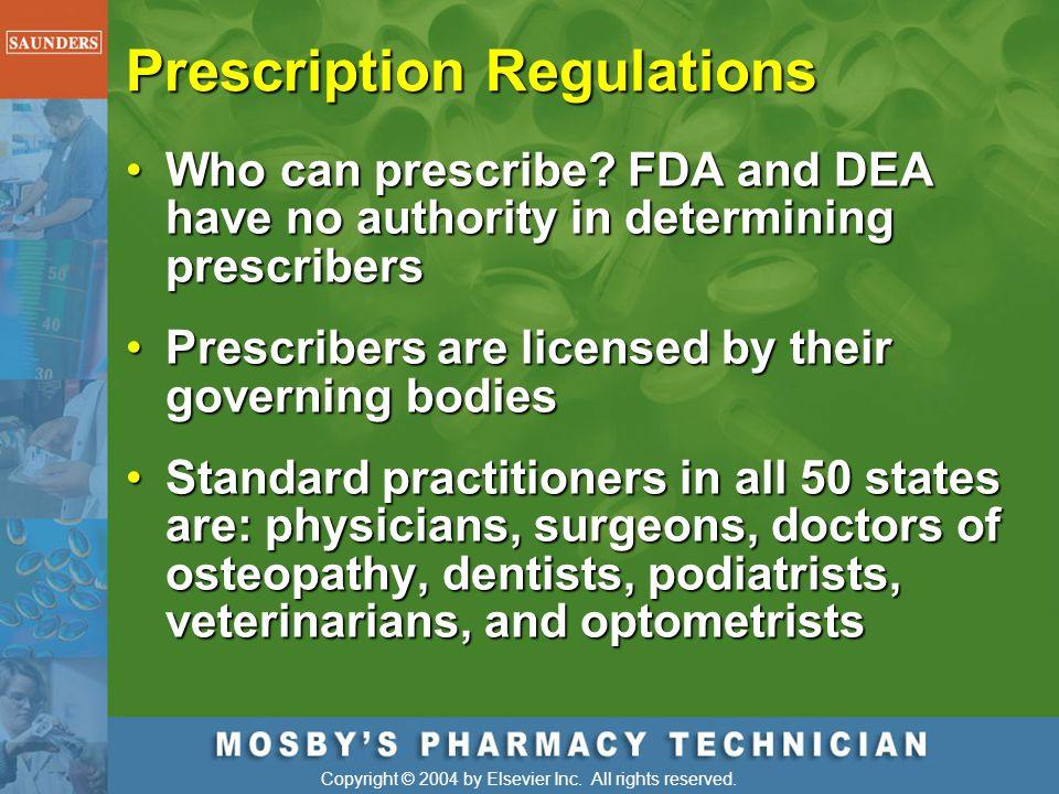 Prescription Regulations